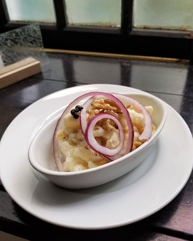 前菜2きつねのポテロニ つまりポテトマカロニサラダ #ひなぎくきつね #飯倉片町菓子売り場
